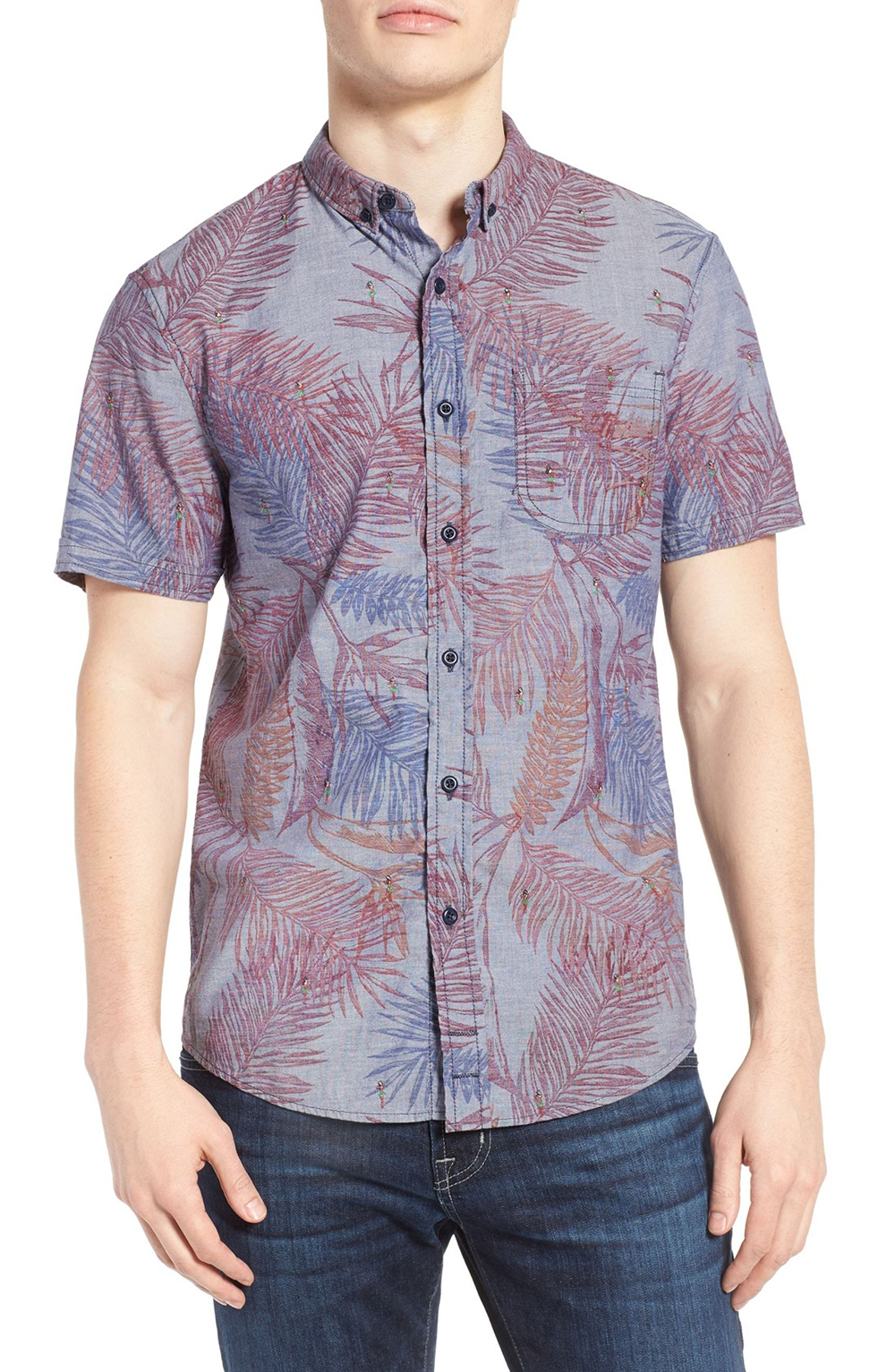 1901 Hawaiian Embroidered Woven Shirt - Spring Menswear: Button Downs and Bomber Jackets