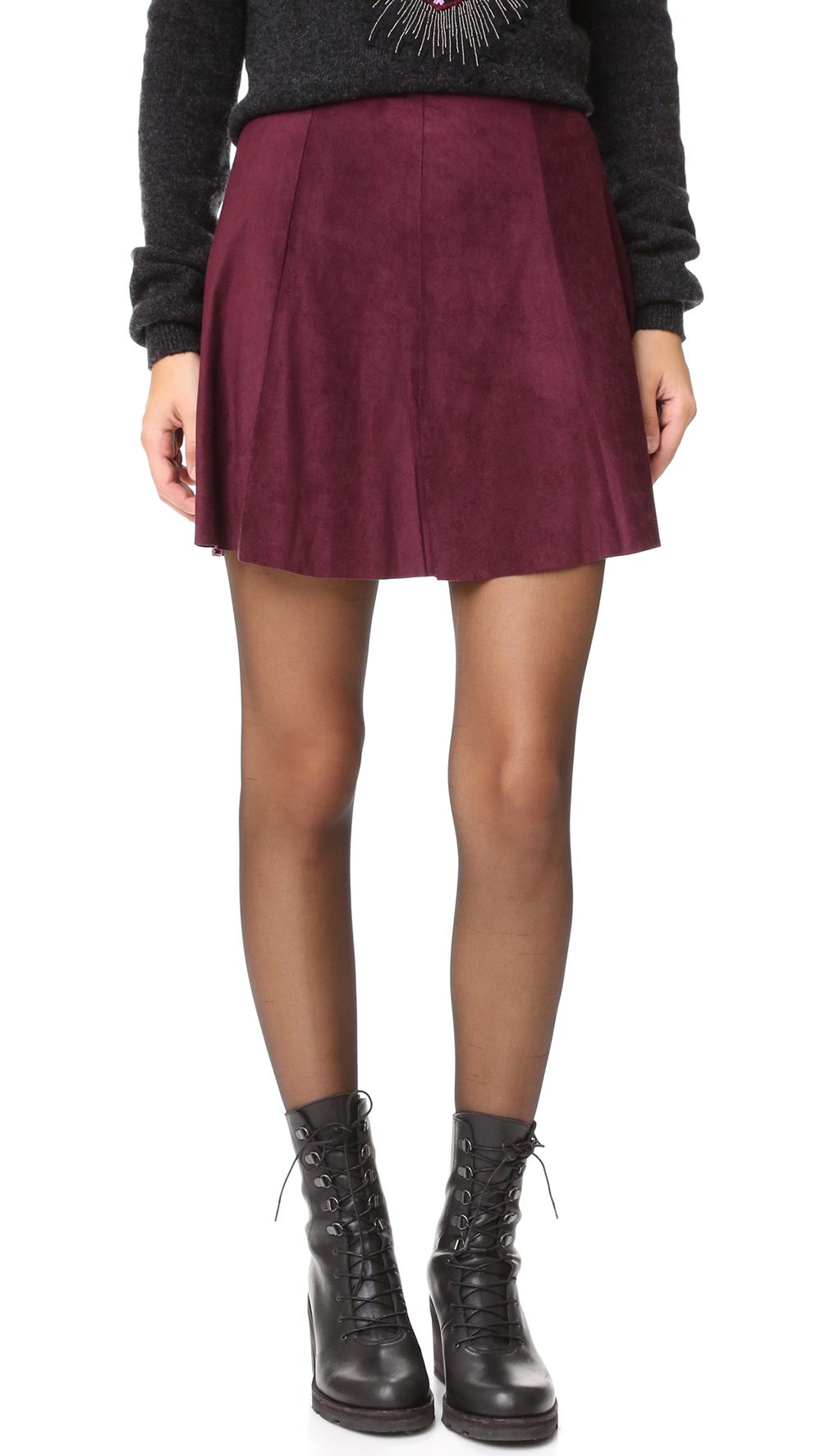 BB Dakota Kimber Faux Suede Skirt - The Perfect A-line Mini Skirt