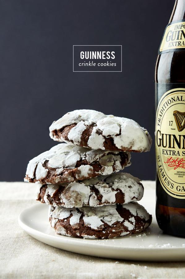Guinness Crinkle Cookies   Style Me Pretty Living - Pinterest Picks - 8 Sweet Guinness Recipes for St. Patricks Day