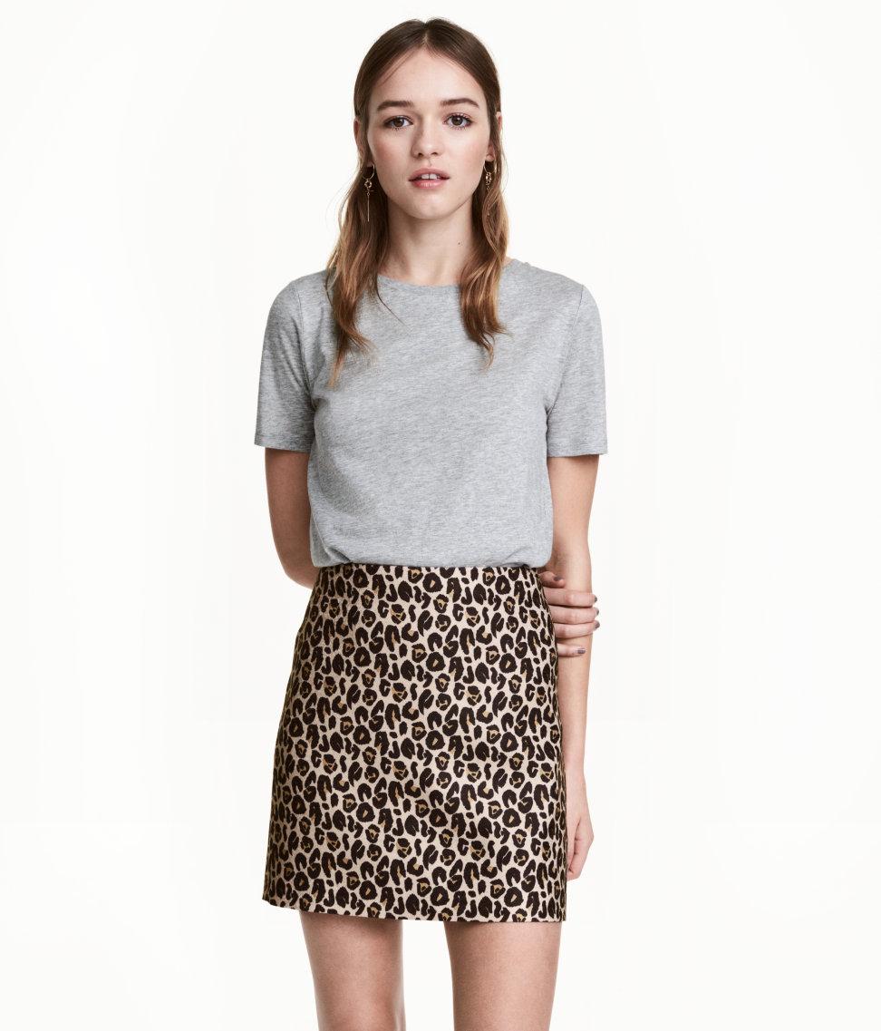 H&M Mini Skirt in Leopard Print - The Perfect A-line Mini Skirt