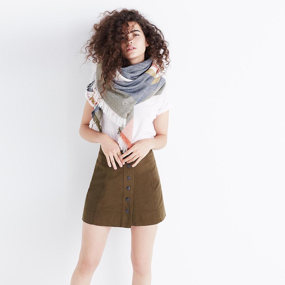 Madewell Metropolis Snap Skirt - The Perfect A-line Mini Skirt