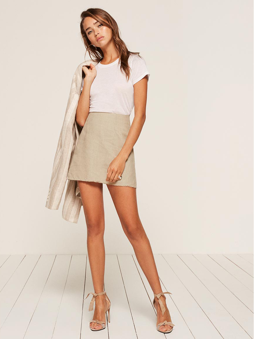 Reformation Fifi Skirt - The Perfect A-line Mini Skirt