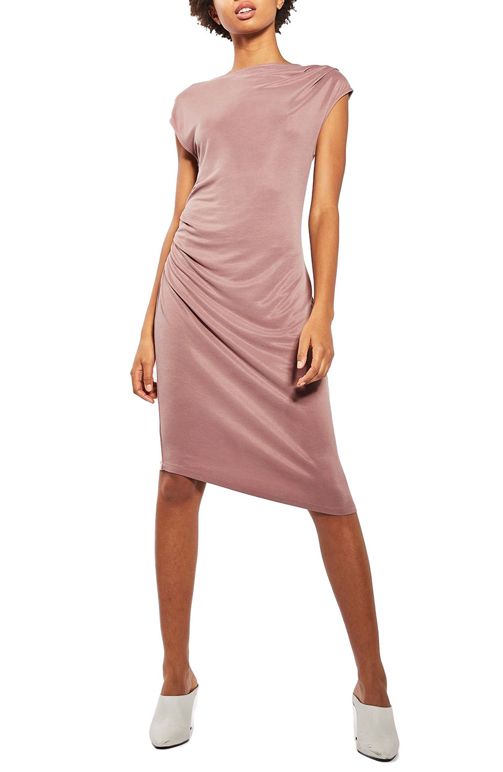 Topshop Asymmetric Slinky Drape Midi Dress - Wardrobe Refresh: Topshop for Spring