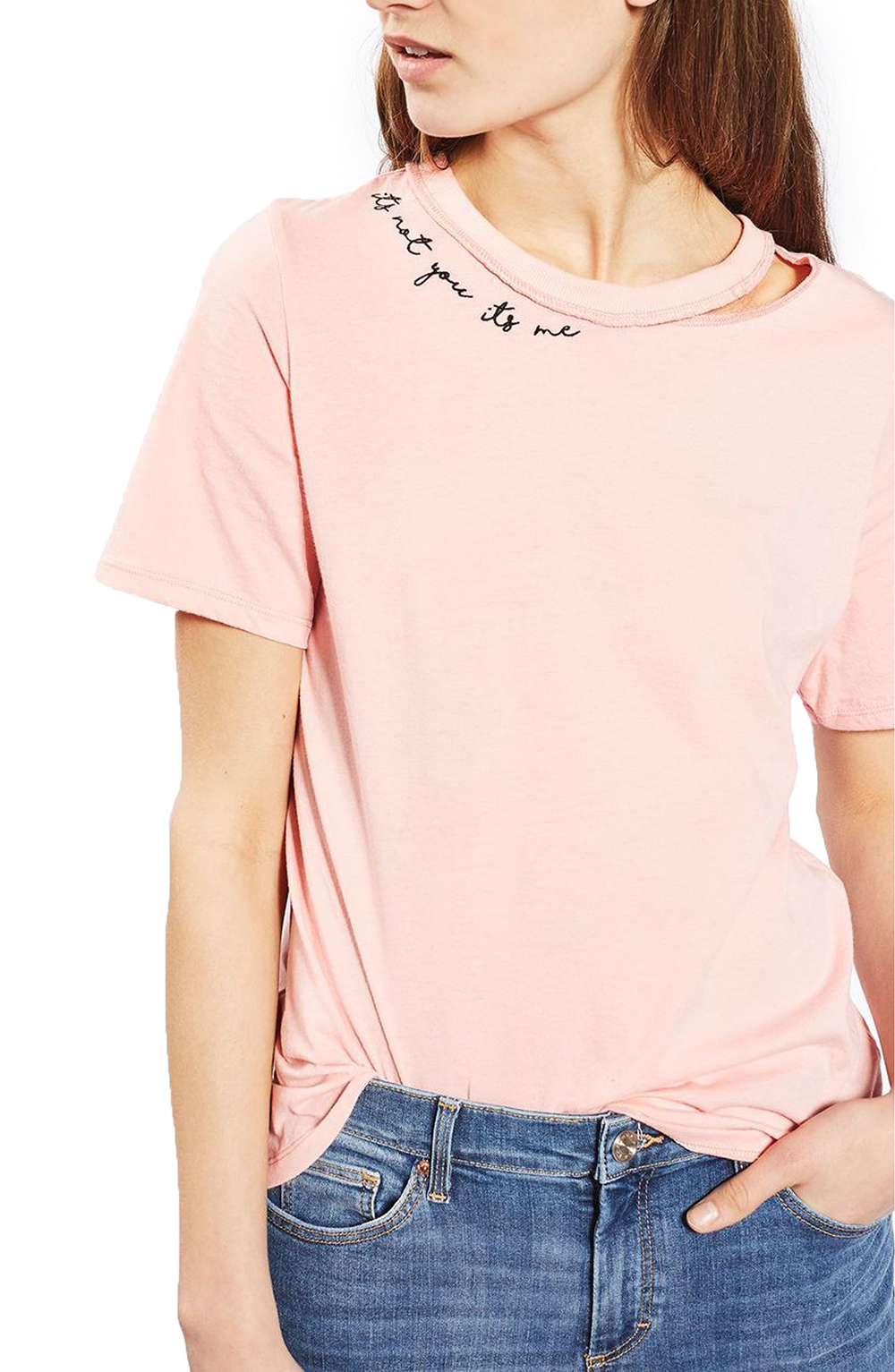 Topshop It's Not Me Slash Tee - Wardrobe Refresh: Topshop for Spring