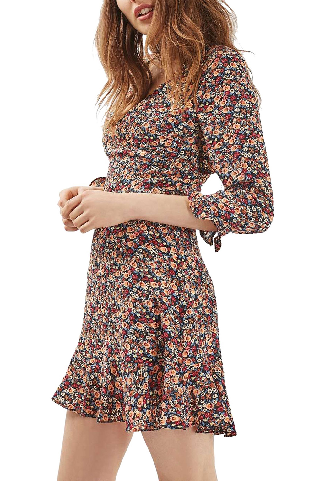 Topshop Peach Pop Ruffle Tea Dress - Wardrobe Refresh: Topshop for Spring