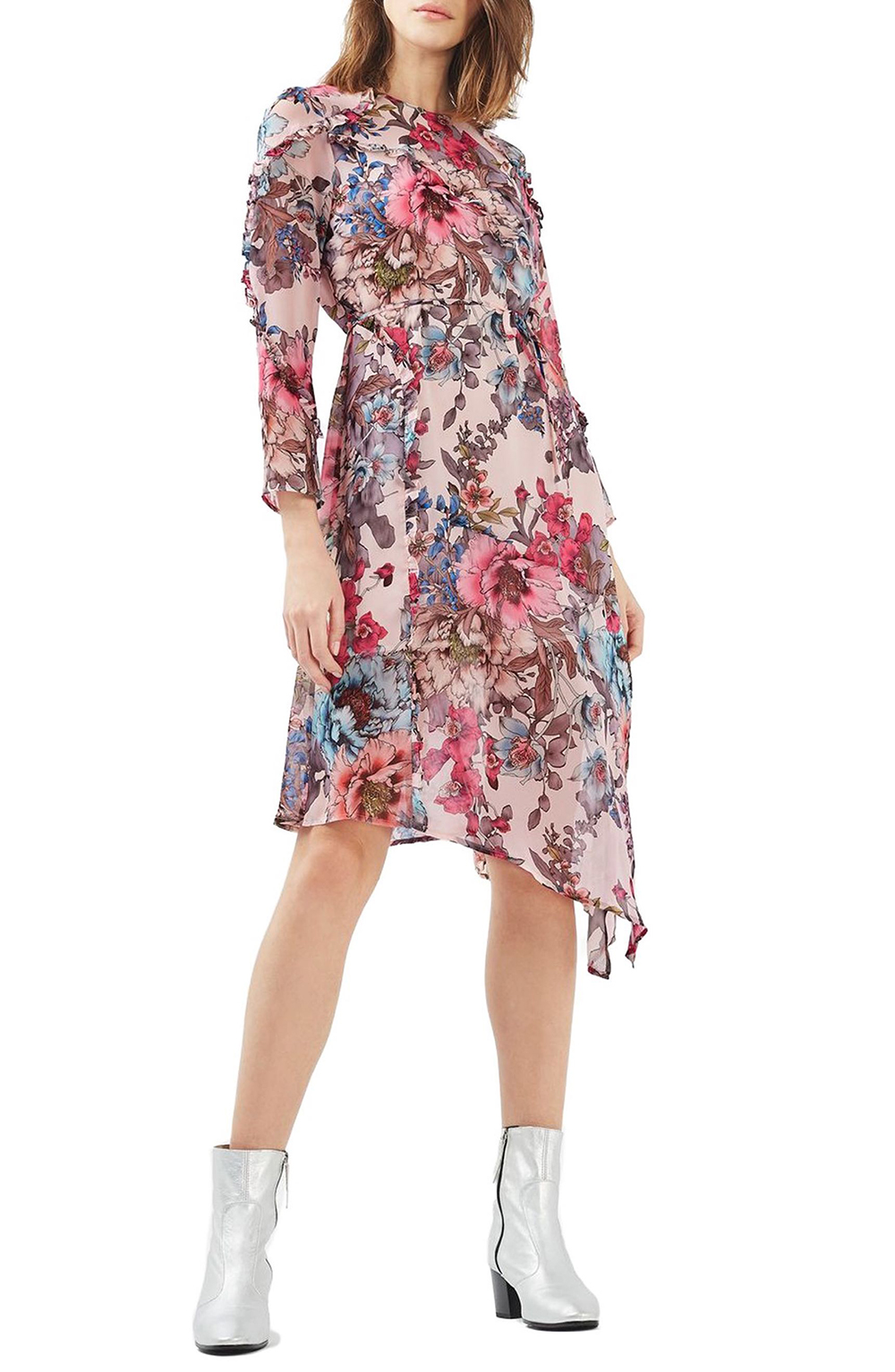 Topshop Pop Floral Ruffle Midi Dress - Wardrobe Refresh: Topshop for Spring