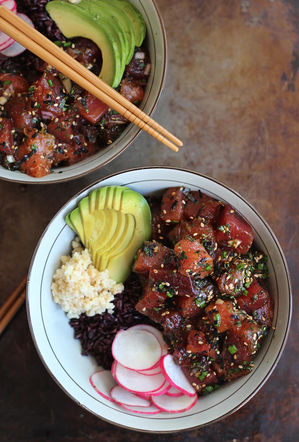 Ahi Poke Bowl | Honestly Yum - Poke Recipes