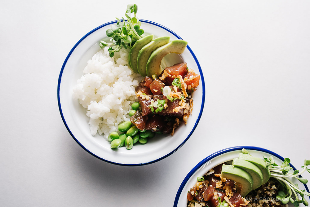Ahi Tuna Poke Quinoa Bowl | I Am A Food Blog - Poke Recipes