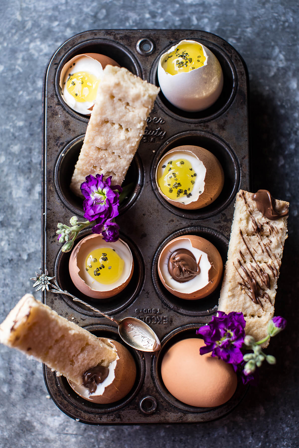 Cheesecake Eggs with Shortbread Soldiers | Half Baked Harvest - Pinterest Picks - 10 Delightful Easter Desserts