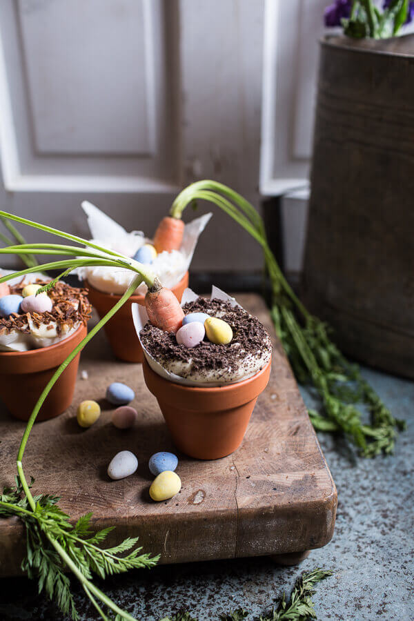 Double Chocolate Nutella Carrot Cake Cups with Malted Cream Cheese Frosting | Half Baked Harvest - Pinterest Picks - 10 Delightful Easter Desserts
