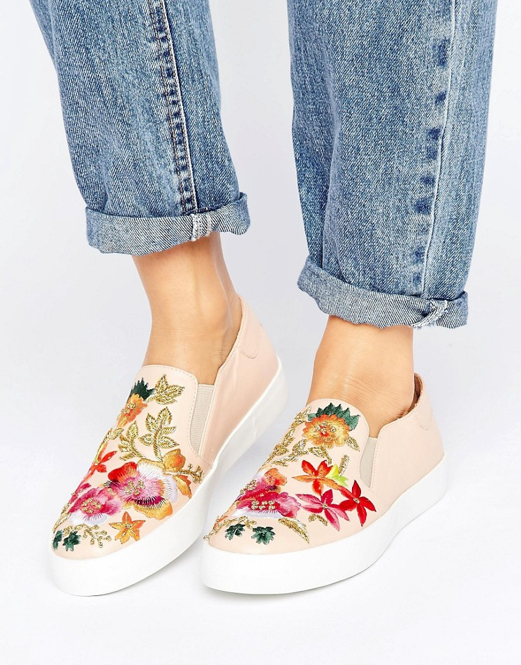 Dune Espy Slip On Embroidered Sneaker - Statement shoes