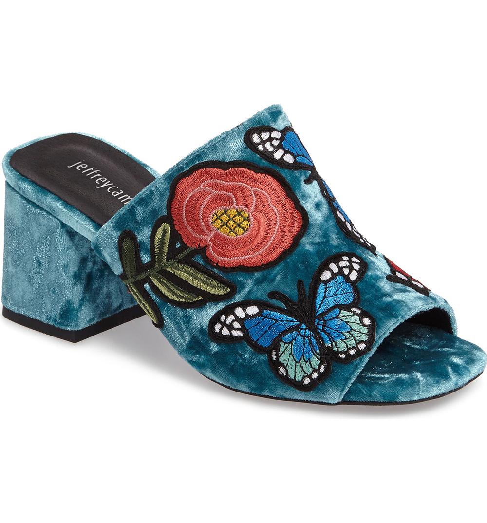 Jeffrey Campbell Perpetua Butterfly Open Toe Mule - Statement shoes