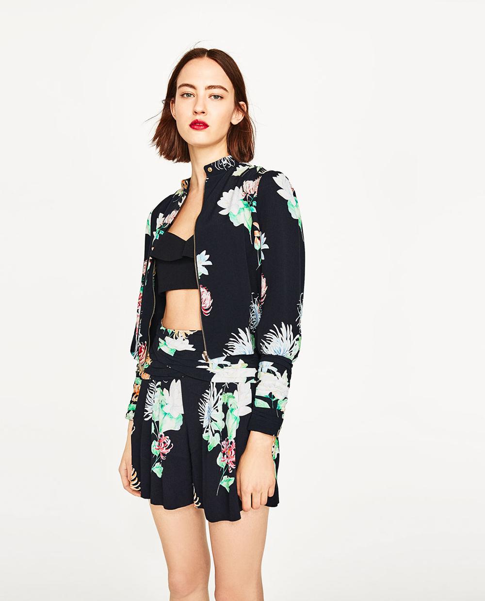 Zara Short Jacket with Floral Print