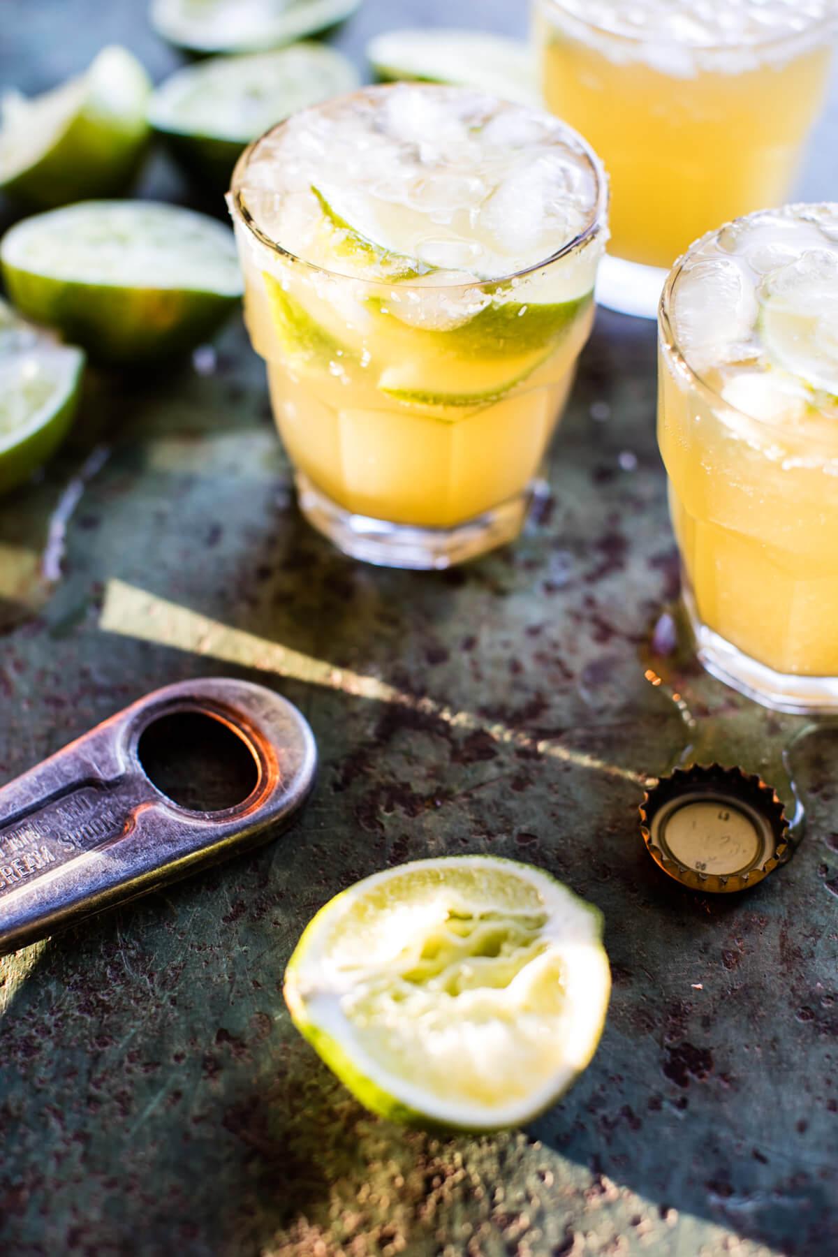 Pineapple Lime Beer Margaritas   Half Baked Harvest - Pinterest Picks - Cinco de Mayo Ready Margarita Recipes