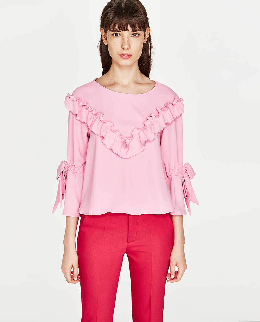 Zara Frilly Blouse - Statement Sleeves