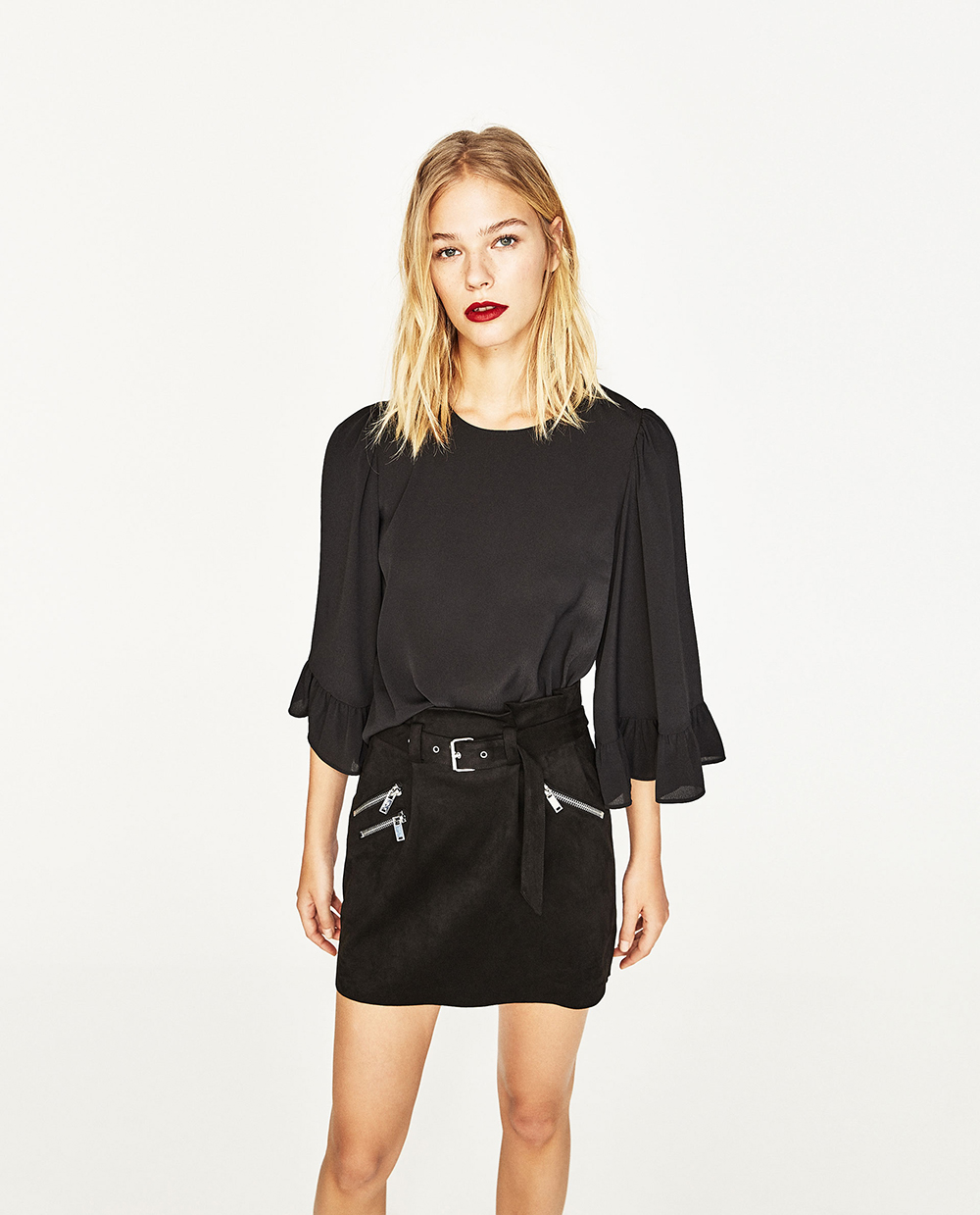 Zara Top with Kimono Sleeves - Statement Sleeves