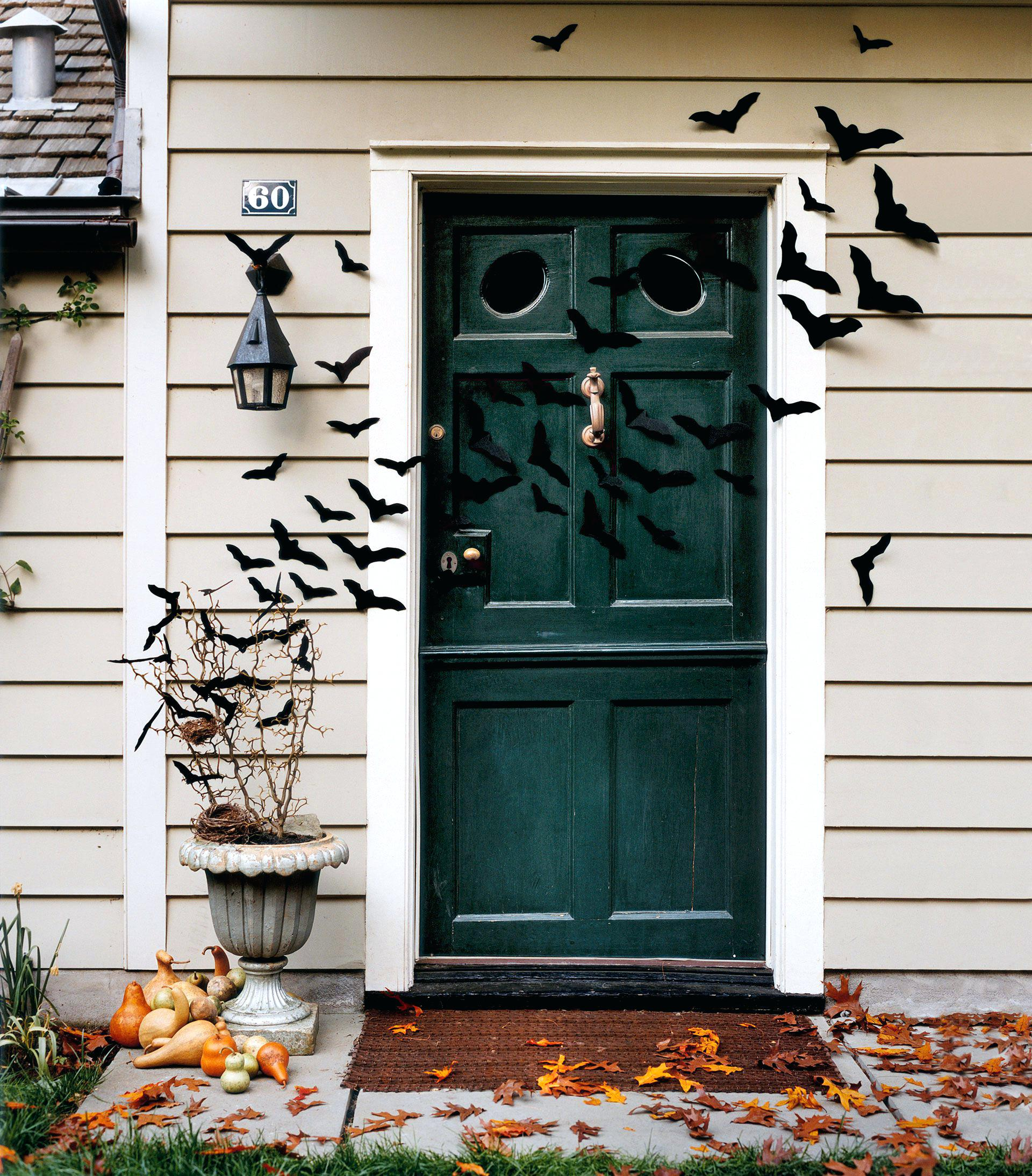 Buy It or DIY It: Cover Your Front Door with Bats | Country Living | Pinterest Picks - Halloween Decor