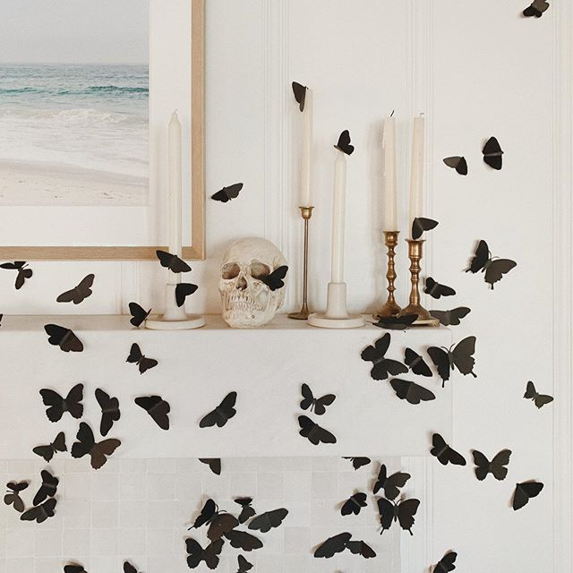 Butterfly Mantel Halloween Decor | @LaurenConrad | Pinterest Picks - Halloween Decor