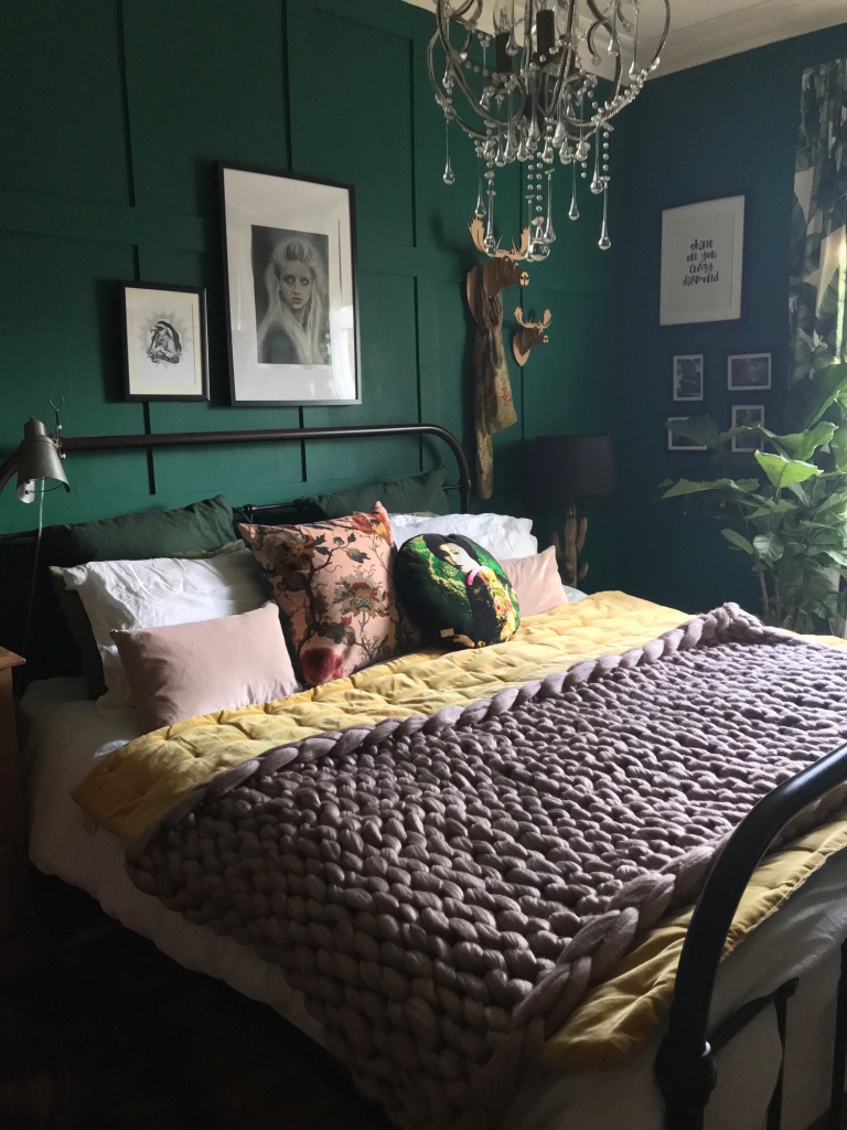 My Bedroom Renovation | The Girl With The Green Sofa | Pinterest Picks - Green Bedroom Inspiration