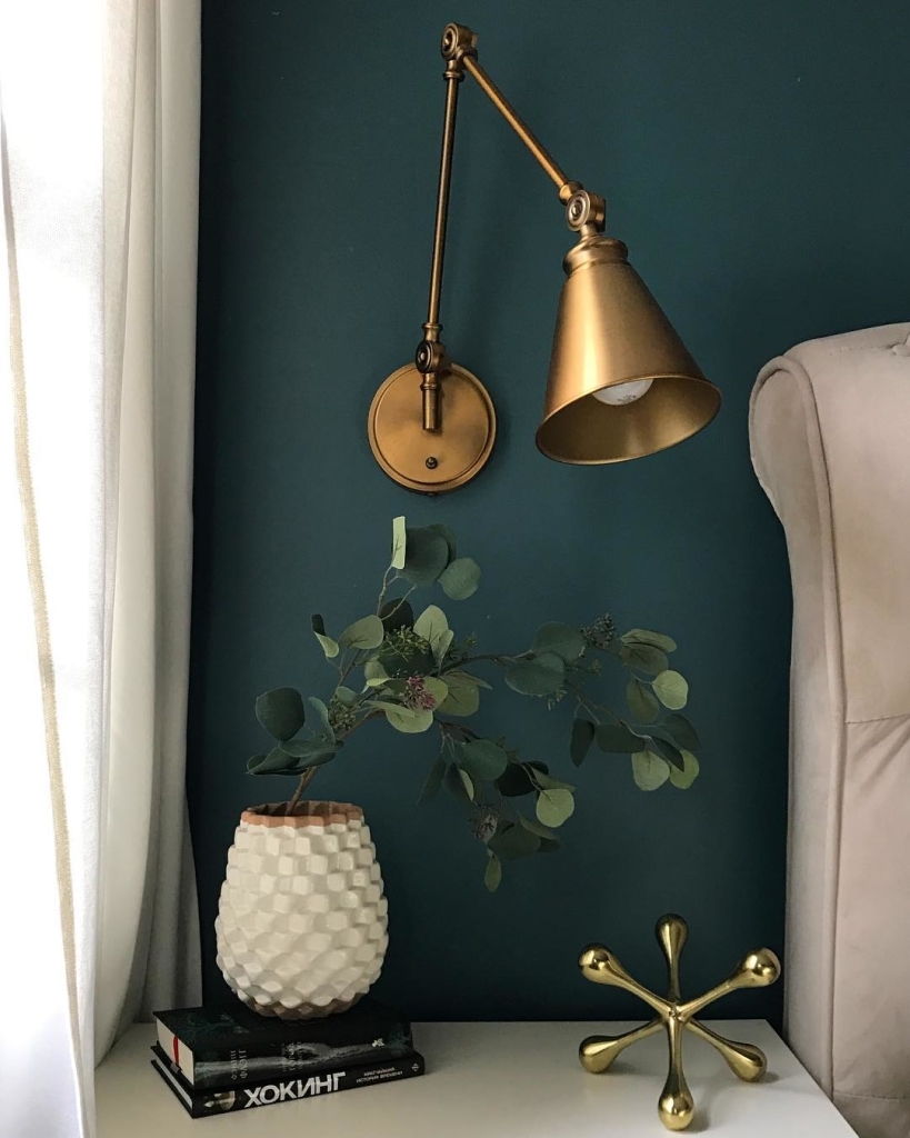 Teal and Brass Moody Master Bedroom | Contague | Pinterest Picks - Green Bedroom Inspiration