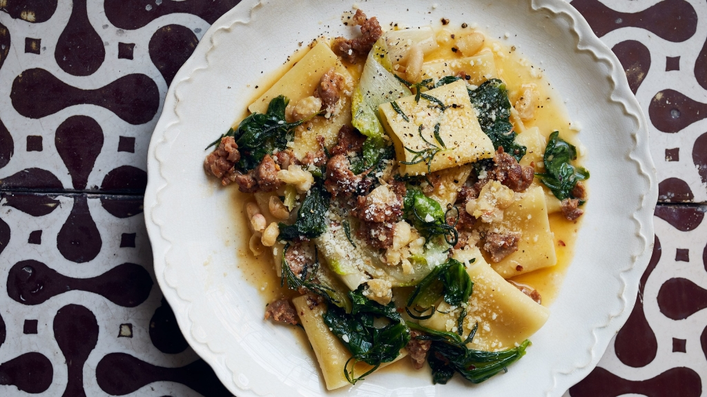 Sausage, Greens, and Beans Pasta | Bon Appetit