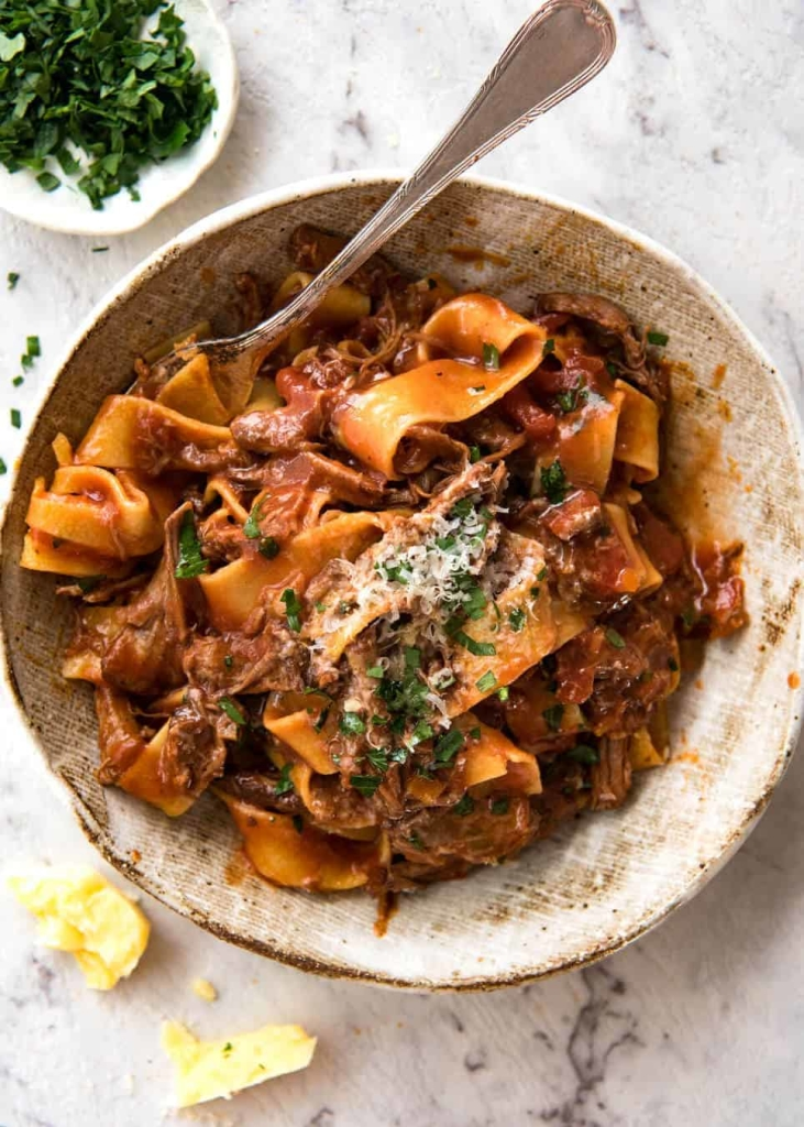Slow Cooked Shredded Beef Ragu Pasta | Recipe Tin Eats